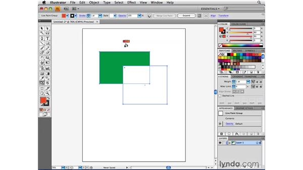 Using the Live Paint Bucket tool: Illustrator CS4 Beyond the Basics