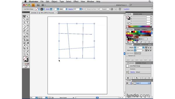 Using Live Paint with open paths: Illustrator CS4 Beyond the Basics