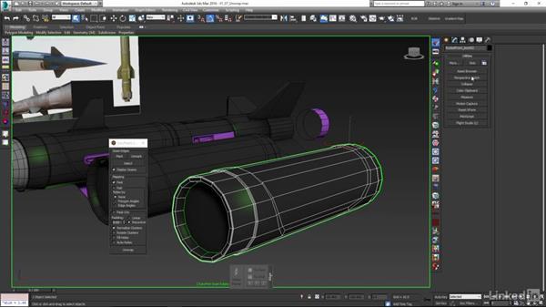 Unwrap low-poly rocket pieces: Game Art: Asset Texture Pipeline