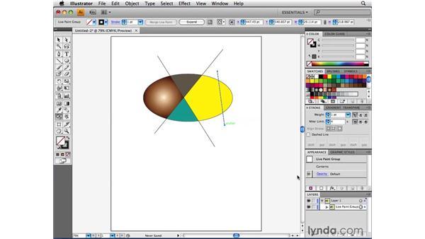 Adding paths to a Live Paint group: Illustrator CS4 Beyond the Basics