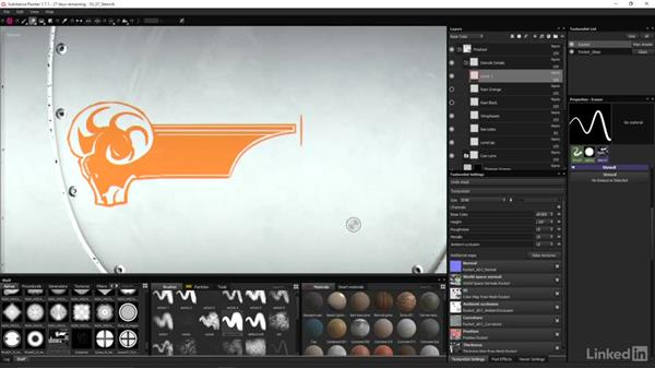 Apply stenciled designs to your rocket: Game Art: Asset Texture Pipeline