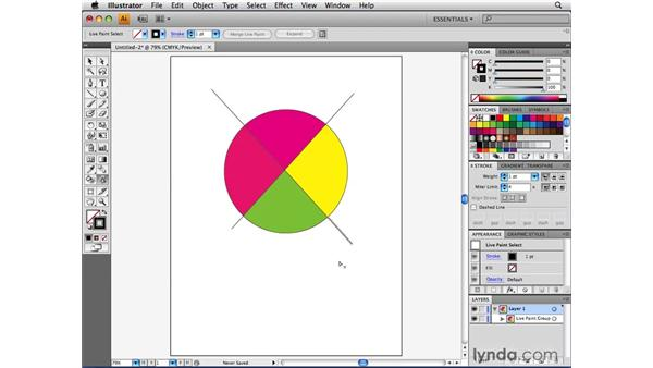 Using the Live Paint Selection tool: Illustrator CS4 Beyond the Basics