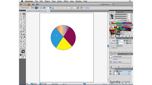 Releasing and expanding Live Paint groups: Illustrator CS4 Beyond the Basics