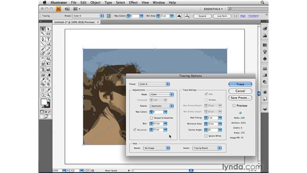 Using Photoshop with Live Trace: Illustrator CS4 Beyond the Basics