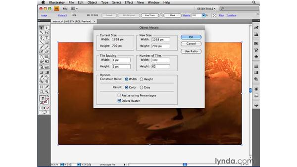 Turning an image into mosaic tiles: Illustrator CS4 Beyond the Basics