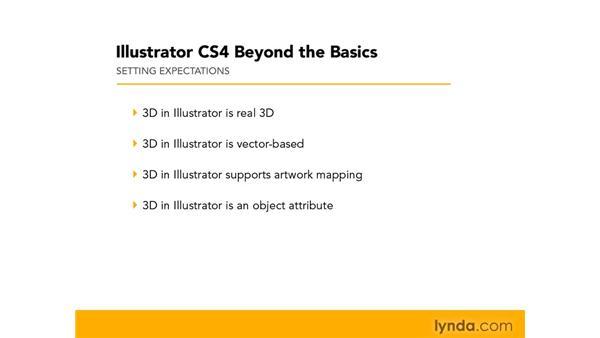 Setting expectations: 3D in Illustrator: Illustrator CS4 Beyond the Basics
