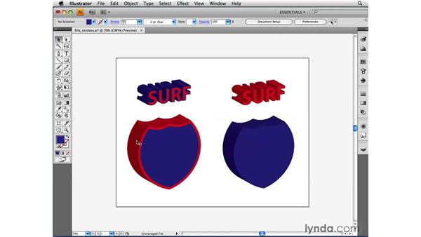 How fills and strokes affect 3D artwork: Illustrator CS4 Beyond the Basics