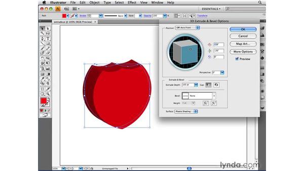 Applying the 3D Extrude & Bevel effect: Illustrator CS4 Beyond the Basics