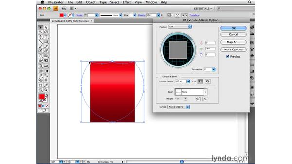 Applying a bevel: Illustrator CS4 Beyond the Basics