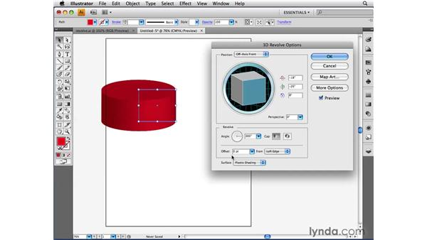 Applying the 3D Revolve effect: Illustrator CS4 Beyond the Basics