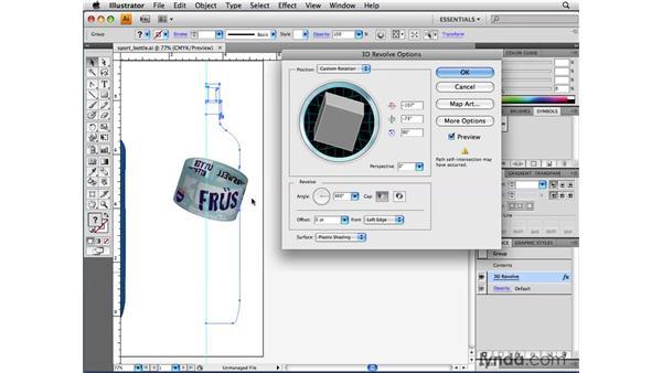 Hiding geometry with 3D artwork mapping: Illustrator CS4 Beyond the Basics