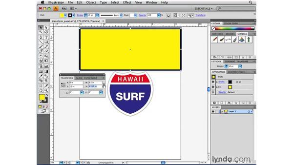 Using the Transform panel: Illustrator CS4 Beyond the Basics