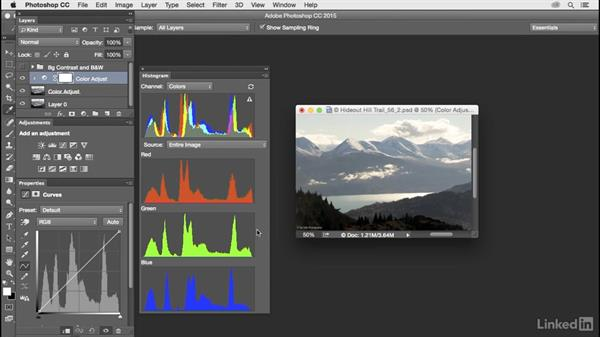 Customize Histogram and Properties panels