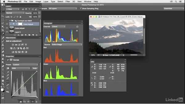 Add, customize, and use the Info panel: Customize Photoshop: A Practical Approach