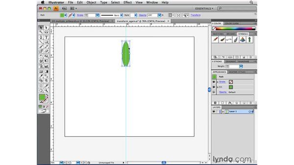 Repeating transformations: Illustrator CS4 Beyond the Basics