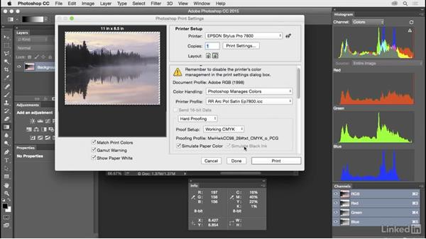 Customize and save print settings: Customize Photoshop: A Practical Approach