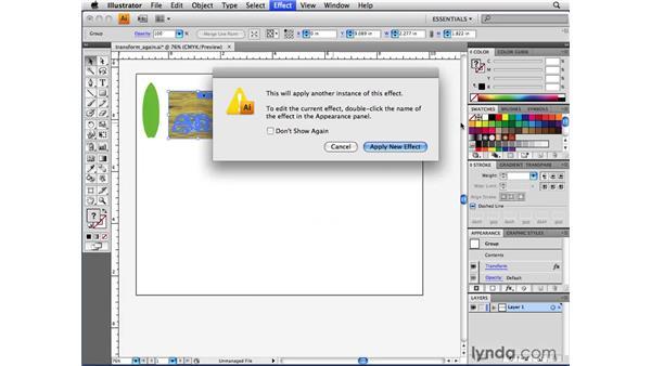 Using the Distort & Transform effects: Illustrator CS4 Beyond the Basics