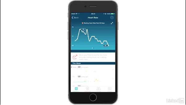 Tracking heart rate: Up and Running with Fitbit