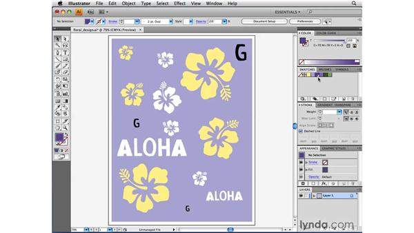 Considering three types of color swatches: Illustrator CS4 Beyond the Basics