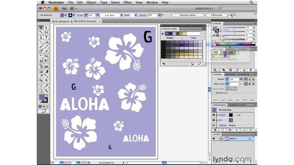 Using the color guide: Illustrator CS4 Beyond the Basics