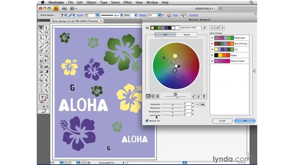 Making global color adjustments: Illustrator CS4 Beyond the Basics
