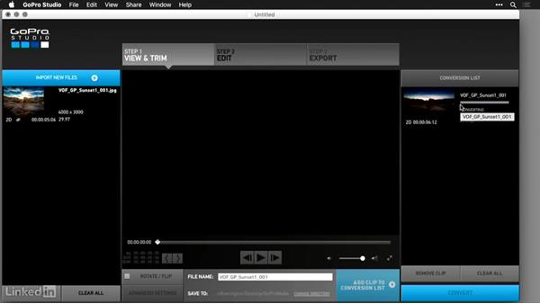 Assembling the time-lapse movie with GoPro Studio: GoPro HERO and Session Fundamentals