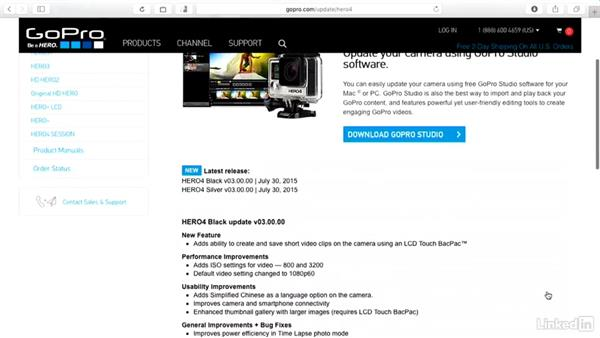 How to check for camera updates: GoPro HERO and Session Fundamentals