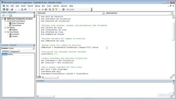 Running the simulation: Process Modeling in Excel Using VBA
