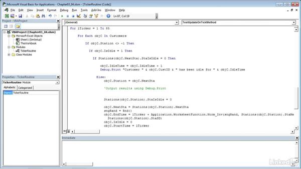 Adding code to write out results: Process Modeling in Excel Using VBA