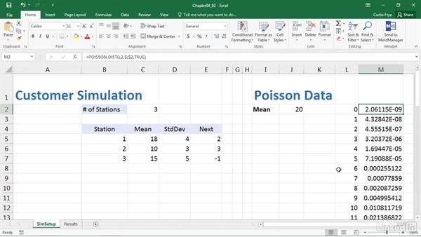 Calculating arrival times using the Poisson distribution: Process Modeling in Excel Using VBA