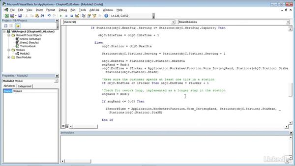Adding rework loops to stations: Process Modeling in Excel Using VBA
