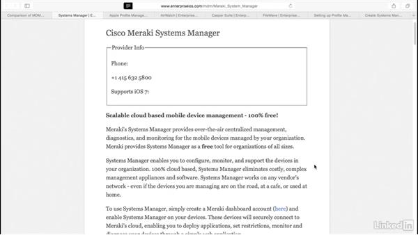 Choose an MDM solution: Mobile Device Management with Meraki: Managing iPads