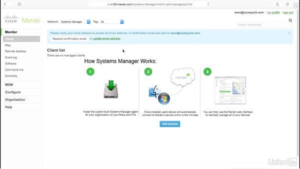Set up Meraki Systems Manager: Mobile Device Management with Meraki: Managing iPads