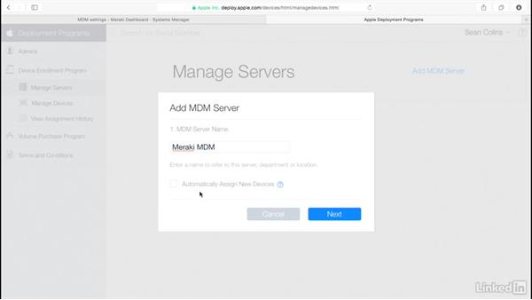 DEP to MDM link: Mobile Device Management with Meraki: Managing iPads