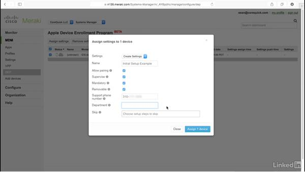 Manage Setup Assistant in iOS via MDM: Mobile Device Management with Meraki: Managing iPads