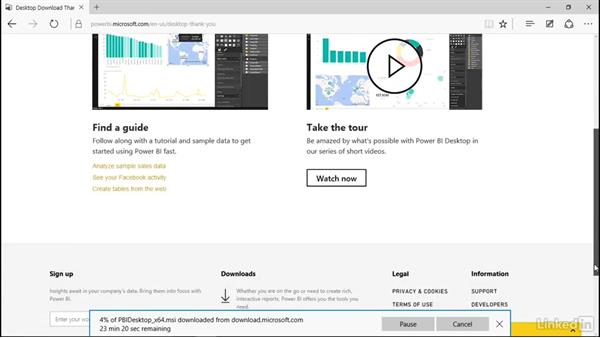 Installing Power BI Desktop: Learn Microsoft Power BI Desktop: The Basics
