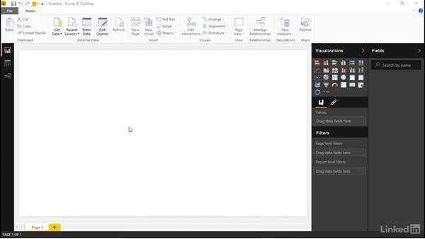 Connecting to Facebook: Learn Microsoft Power BI Desktop: The Basics