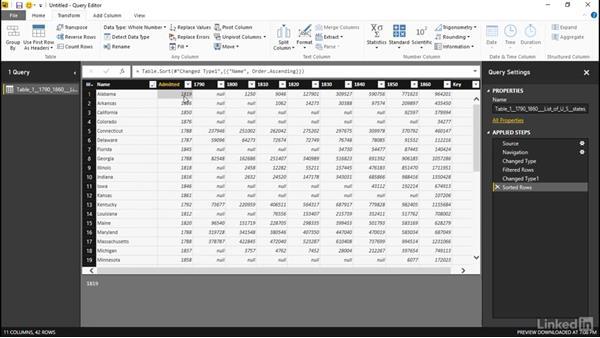 Transforming data: Learn Microsoft Power BI Desktop: The Basics