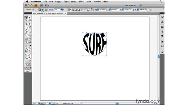 Editing envelopes: Illustrator CS4 Beyond the Basics