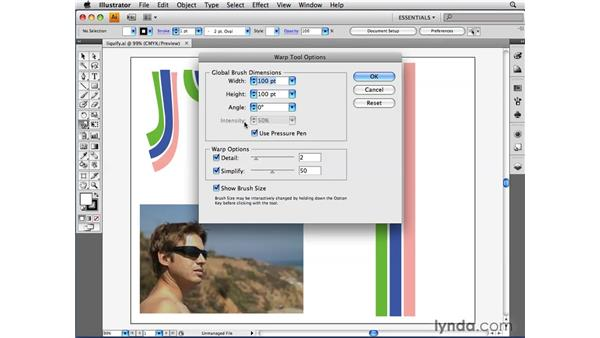 Customizing the liquify tools: Illustrator CS4 Beyond the Basics