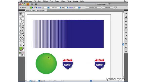 Blending two objects: Illustrator CS4 Beyond the Basics
