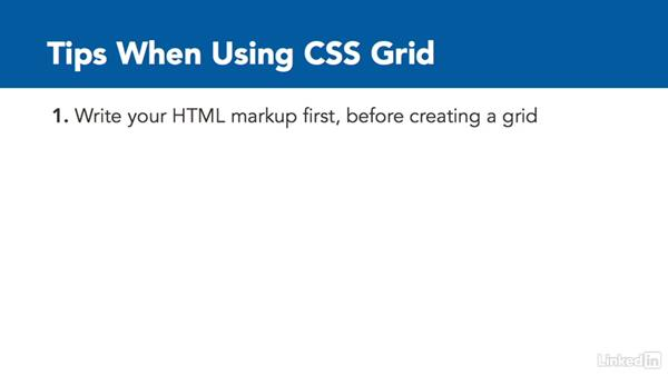 The importance of semantic markup: CSS Grid: First Look
