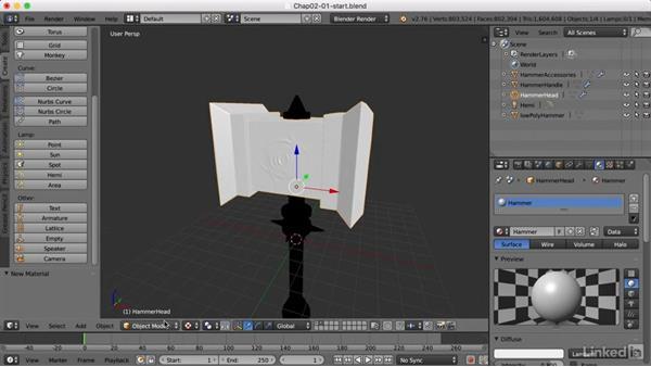 Organizing the scene: Blender: Game Asset Textures
