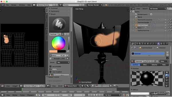 Face masking and the fill brush: Blender: Game Asset Textures
