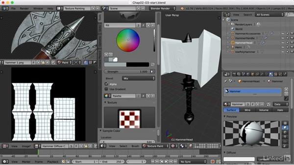 Sampling colors: Blender: Game Asset Textures
