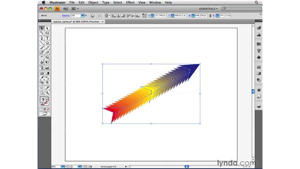 Releasing and expanding a blend: Illustrator CS4 Beyond the Basics