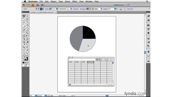 Creating a chart: Illustrator CS4 Beyond the Basics