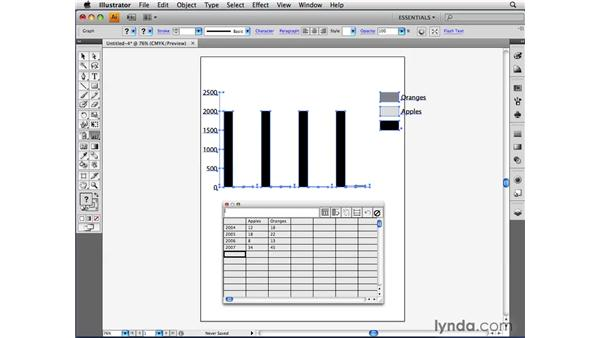 Formatting data: Illustrator CS4 Beyond the Basics
