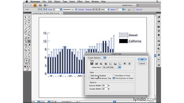 Customizing a chart: Illustrator CS4 Beyond the Basics