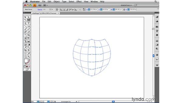 Using Gradient Mesh to add contoured shading: Illustrator CS4 Beyond the Basics